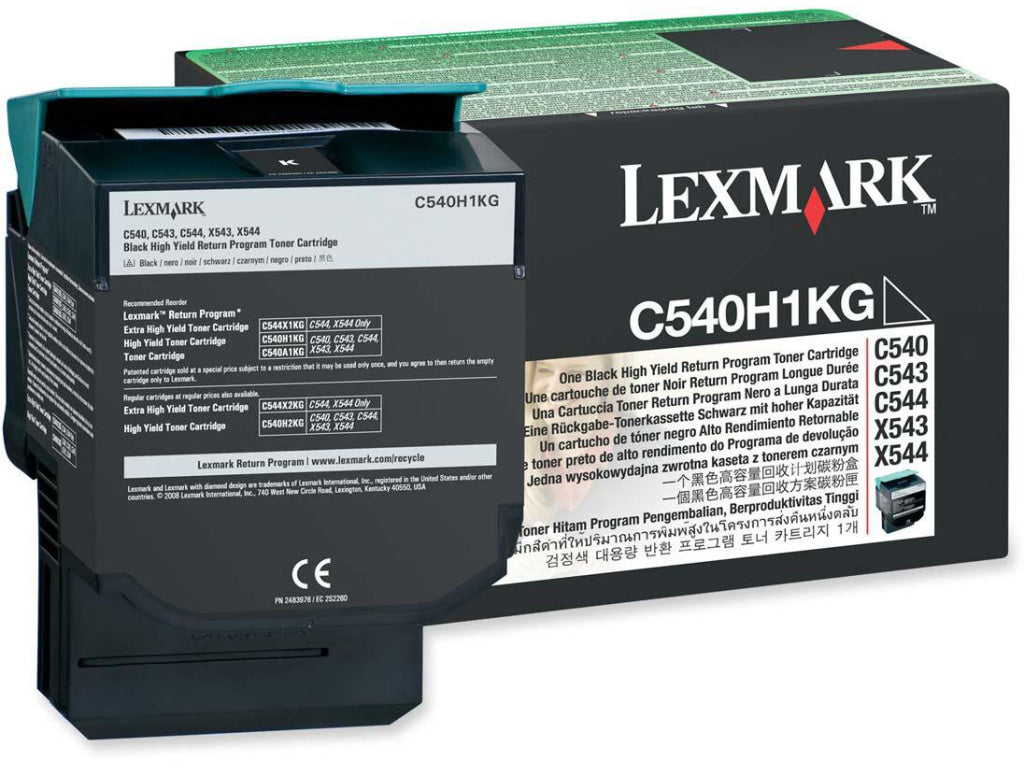 Lexmark C540H1KG OEM Toner Cartridge For C540 Black - 2.5K
