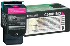 Lexmark C540H1MG OEM Toner Cartridge For C540 Magenta - 2K