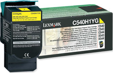 Lexmark C540H1YG OEM Toner Cartridge For C540 Yellow - 2K