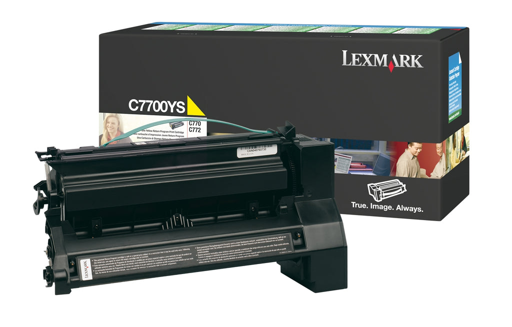 Lexmark C7700YH OEM Toner Cartridge For C770 Yellow - 10K