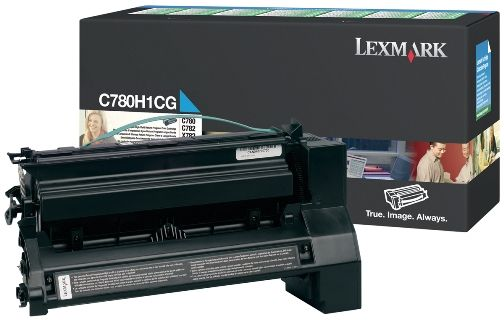 Lexmark C780H1CG OEM Toner Cartridge For For C780, X782 Cyan - 10K
