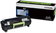 OEM Lexmark Unison 50F1000, 501 Toner Cartridge - Black - 1.5K