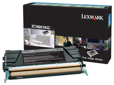 Lexmark X746H1KG OEM Toner Cartridge For X746 Black - 12K