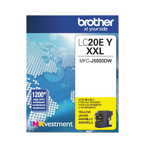 OEM Brother LC20E, LC20EYS Super High Yield Ink Cartridge - Yellow - 1.2K