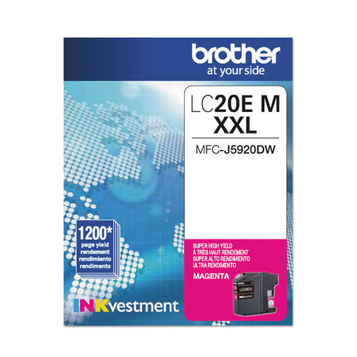 OEM Brother LC20E, LC20EMS Super High Yield Ink Cartridge - Magenta - 1.2K
