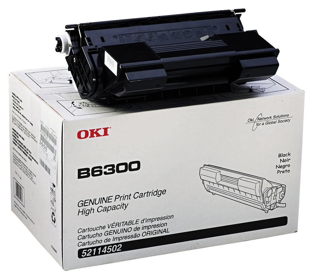 Okidata 52114502 OEM Toner Cartridge For B6300 Black - 17K