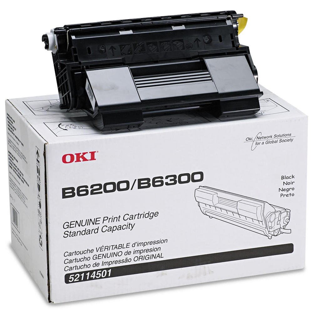 Okidata 52114501 OEM Toner Cartridge For B6200 Black - 11K