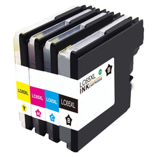 Compatible Brother LC-65 Ink Cartridges for LC65BK, LC65C, LC65Y, LC65M - Value Pack