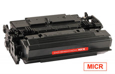 Compatible CF287X, 87X MICR Toner Cartridge - Black - 18K