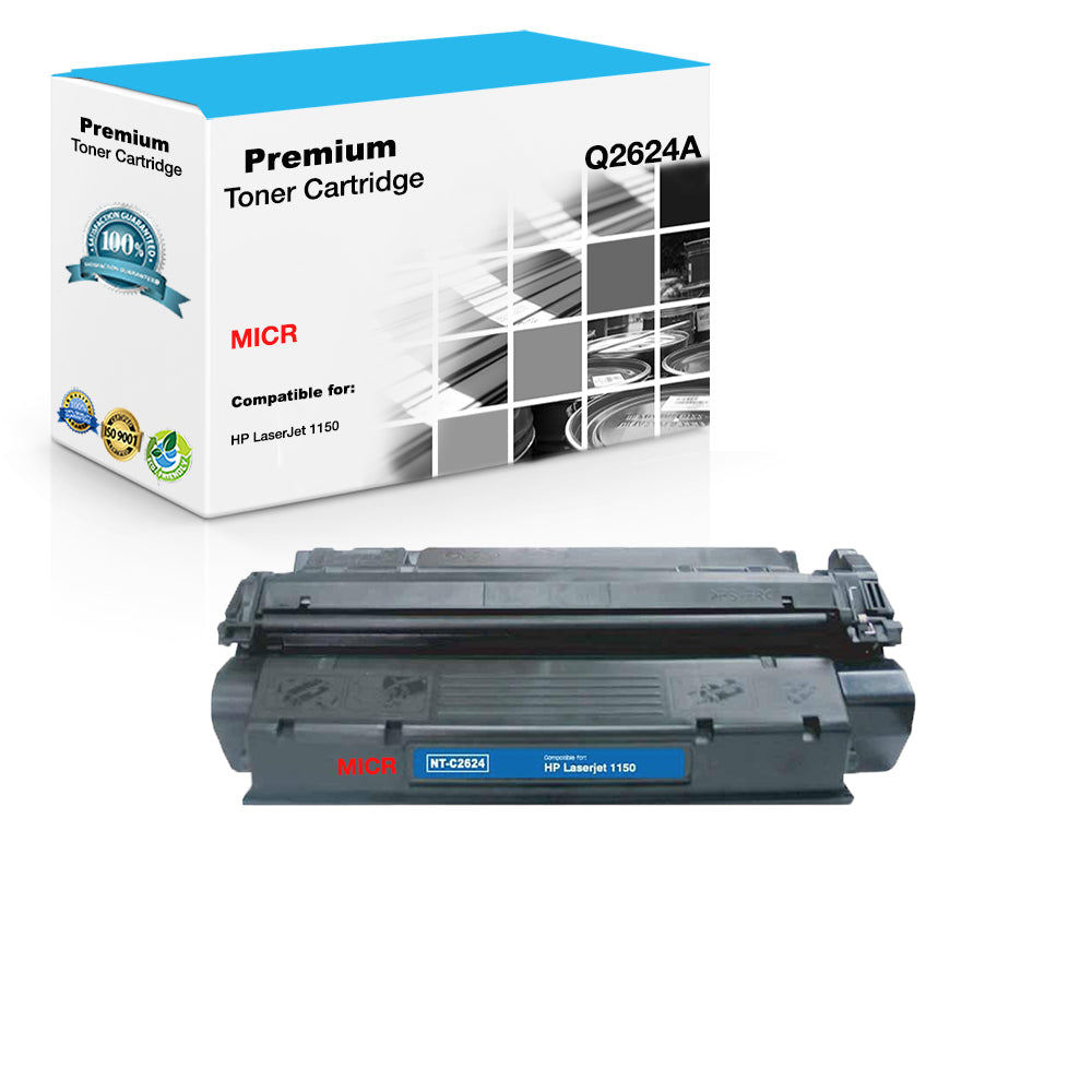 Compatible HP Q2624A, 24A MICR Toner Cartridge For LaserJet 1150 Black - 4K