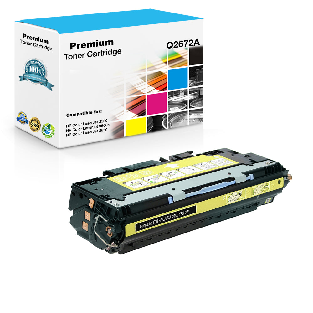 Compatible HP Q2672A, 309A Toner Cartridge For Color LaserJet 3500, 3550 Yellow - 4K