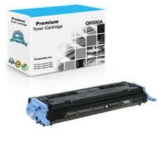 Compatible HP Q6000A, 124A Toner Cartridge For Color LaserJet 2600, CM1015 Black - 2.5K