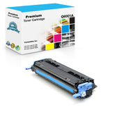 Compatible HP Q6001A, 124A Toner Cartridge For Color LaserJet 2600, CM1015 Cyan - 2.5K