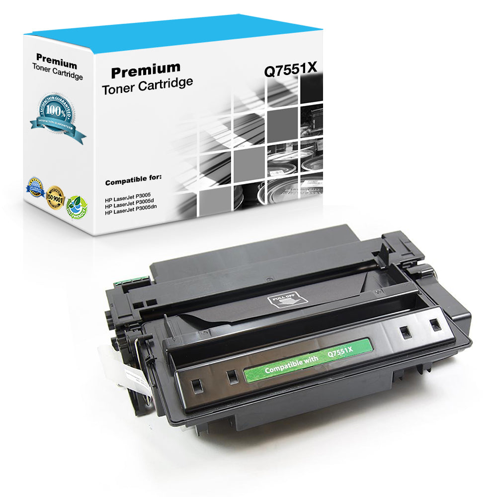 Premium Compatible HP Q7551X, 51X Toner Cartridge For LaserJet P3005, M3027, M3035, 12K