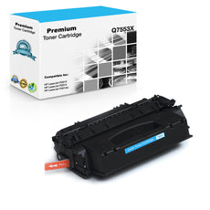 Compatible HP Q7553X, 53X Toner Cartridge For LaserJet P2014, P2015, M2727 Black - 7K