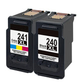 Compatible Canon PG-240XL Black - CL-241XL Tri-Color - Ink Cartridges 2-Pack
