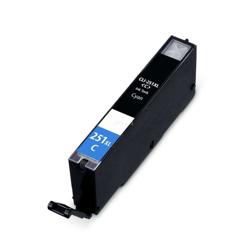 Compatible Canon CLI-251XLC, 6449B001 Ink Cartridge - Cyan - 665 pages