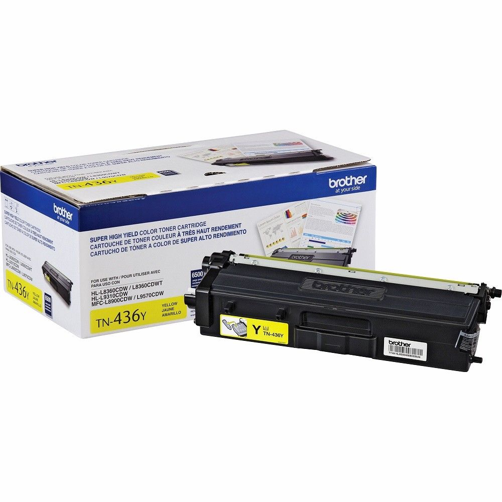 Original Brother TN436Y Toner Cartridge - Yellow - Standard Yield - 6500 Pages