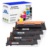 Combo Set Samsung CLT-406 Toner Cartridge Compatible with CLT-K406S, CLT-C406S, CLT-M406S, CLT-Y406S