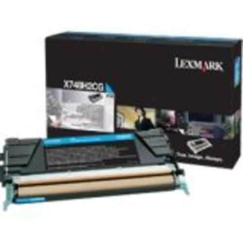 OEM Lexmark X748H2CG Toner Cartridge For X748 Cyan (10,000 Yield)