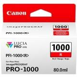 OEM Canon 0554C002 LUCIA PRO PFI-1000 Ink Cartridge - Red - 5355 Photo