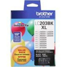 OEM Brother Lc2032PKS Ink Cartridge Black High Yield 550 Yield, 2 Pack