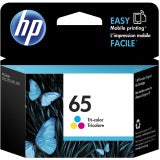 Original HP 65, N9K01AN Ink Cartridge (Tri-Color) Standard Yield - 100 Page