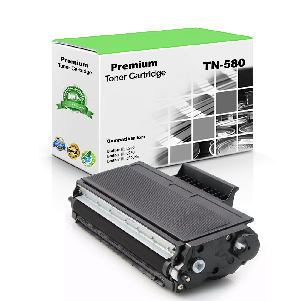 Premium Compatible Brother TN580, TN-580 Toner Cartridge - Black - 7K