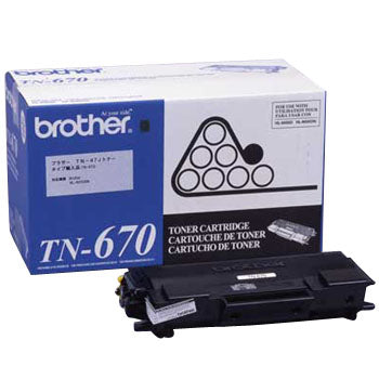OEM Brother TN-670 Toner Cartridge For HL-6050D Black - 7.5K