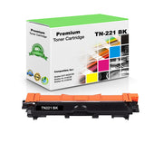 Compatible Brother TN221BK, TN-221BK Toner Cartridge - Black - 2.5K