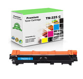 Compatible Brother TN225C, TN-225C Toner Cartridge - Cyan - 2.2K