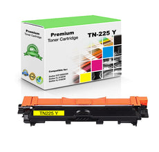 Compatible Brother TN225Y, TN-225Y Toner Cartridge - Yellow - 2.2K