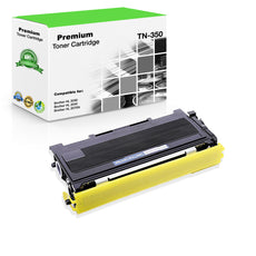 Compatible Brother TN350, TN-350 Toner Cartridge Black - 2.5K
