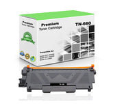 Premium Compatible Brother TN660, TN-660 Toner Cartridge - Black - 2.6K