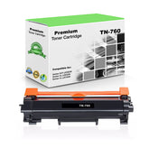 Premium Compatible Brother TN760, TN-760 Toner Cartridge, Black 3K (With Chip)