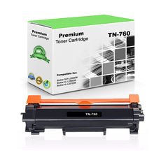 Compatible Brother TN760, TN-760 Toner Cartridge Black - 3000 Pages