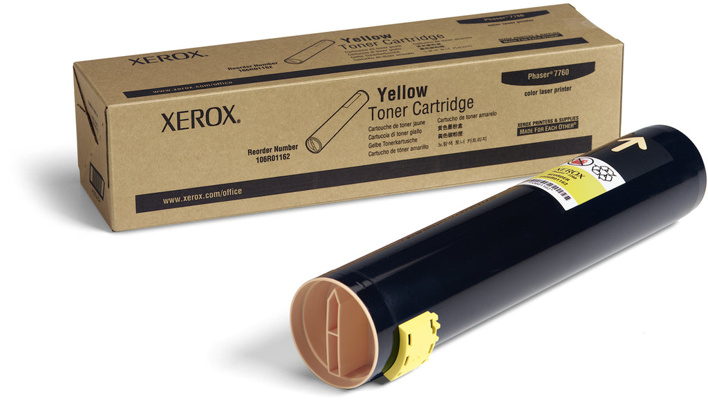 Xerox 106R01162 OEM Toner Cartridge For Phaser 7760 Yellow - 25K