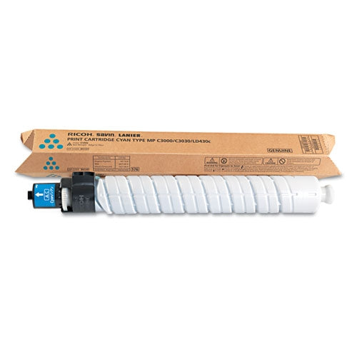 Ricoh 884965 OEM Toner Cartridge Aficio MP C3000 Cyan - 15K