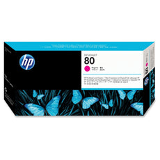 Original HP 80, C4822A Printhead and Printhead Cleaner - Magenta