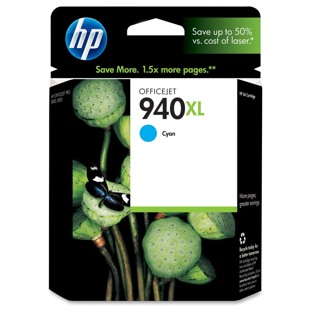 Original HP 940XL, C4907AN Ink Cartridge High Yield Cyan - 1.4K