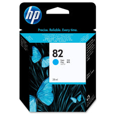Original HP 82, C4911A DesignJet Ink Cartridge - Cyan - 69ml