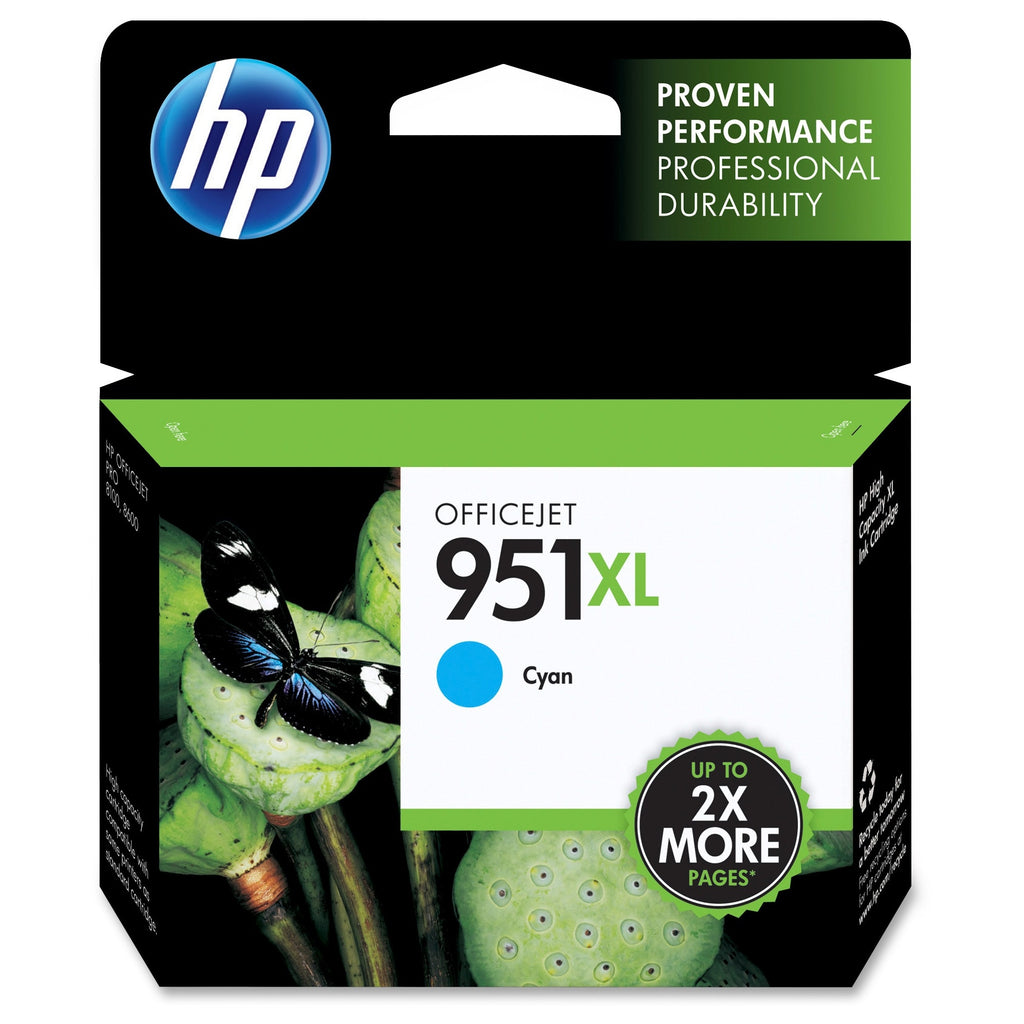 Original HP 951XL, CN046AN High Yield Ink Cartridge - Cyan - 1.5K
