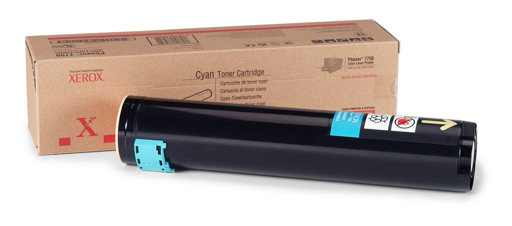 Xerox 106R00653 OEM Toner Cartridge For Phaser 7750 Cyan - 22K