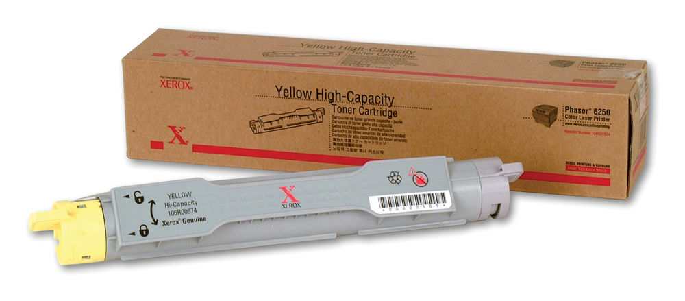 Xerox 106R00674 OEM Toner Cartridge Yellow - 8K