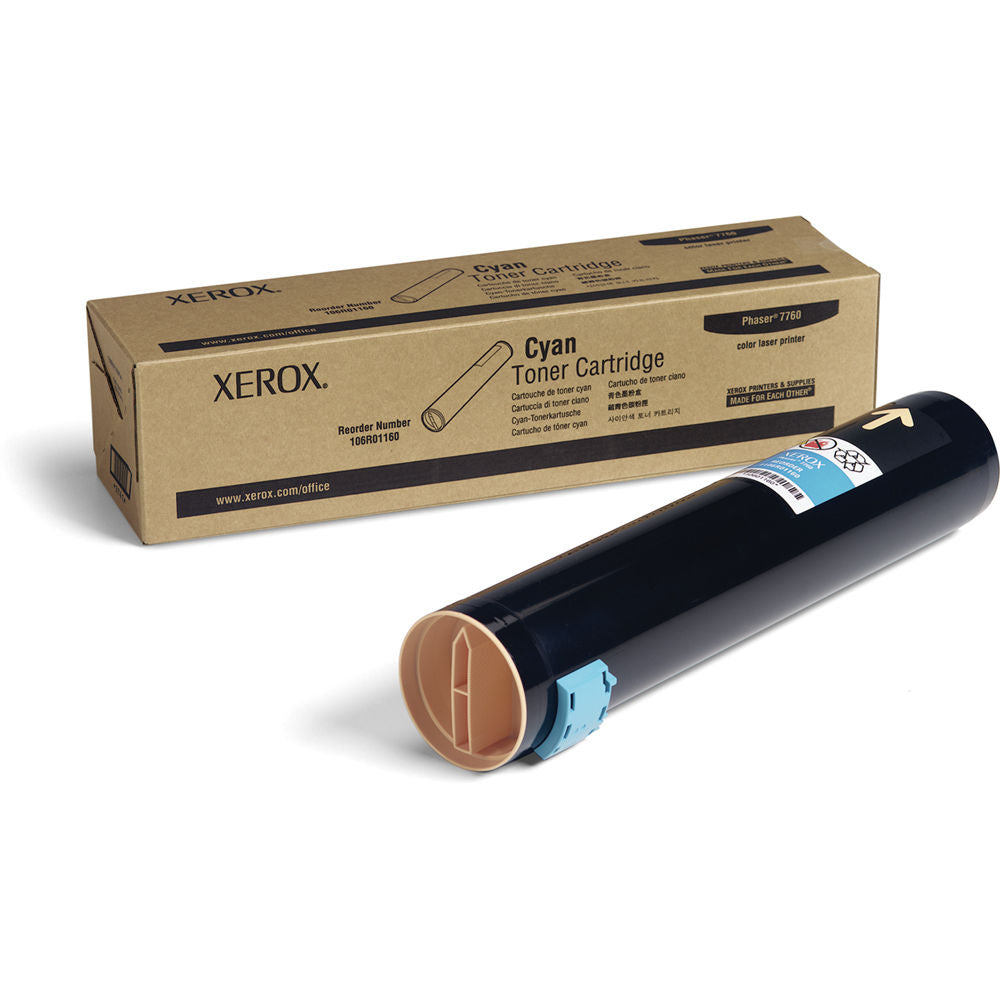 Xerox 106R01160 OEM Toner Cartridge For Phaser 7760 Cyan - 25K