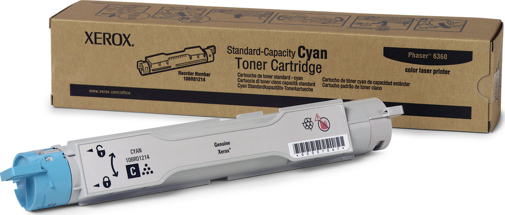 Xerox 106R01214 OEM Toner Cartridge For Phaser 6360 Cyan - 5K