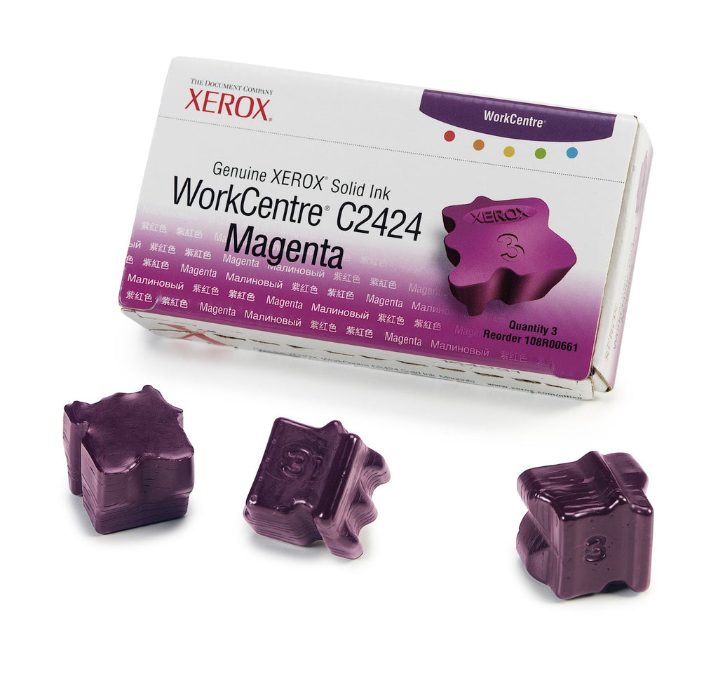Xerox 108R00661 OEM Solid Ink For WorkCentre C2424 Magenta (3Pk) - 3.4K