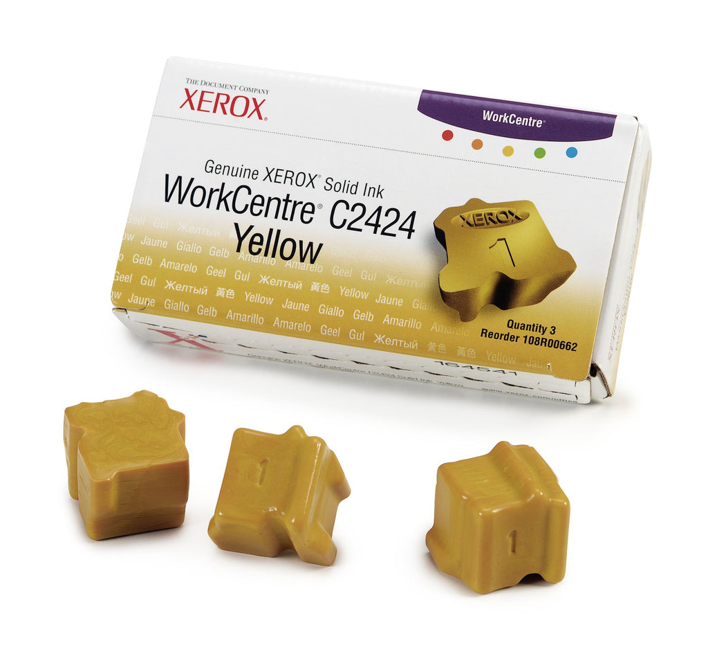 Xerox 108R00662 OEM Solid Ink For WorkCentre C2424 Yellow (3Pk) - 3.4K
