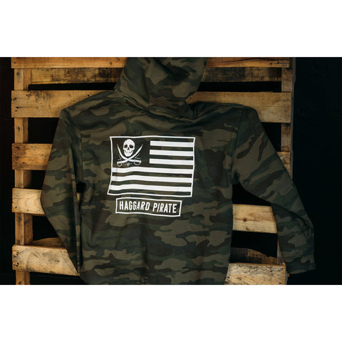 haggard pirate camo hoodie american pirate on pallet full view