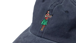 HULA GIRL CURVED BILL HAT - STONEWASHED NAVY